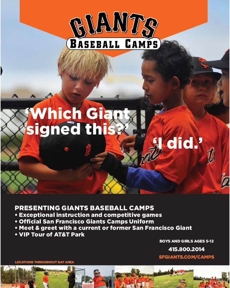 Giants Kids Baseball camp ad