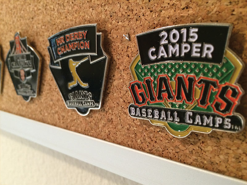 Baseball Camp Pins